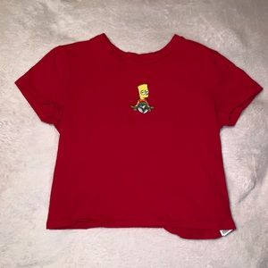 FOREVER21 RED SIMPSONS CROP TOP